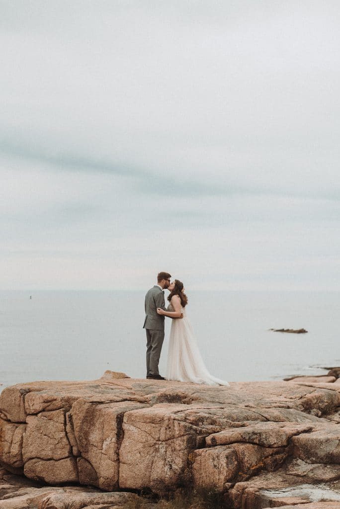 Romantic and sweet intimate wedding at Camp Beech Cliff in Maine