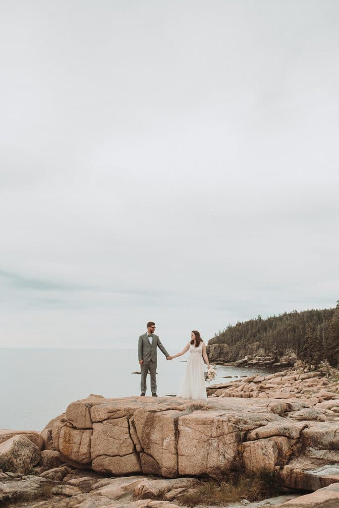 A simple and romantic elopement at Camp Beech Cliff in Maine