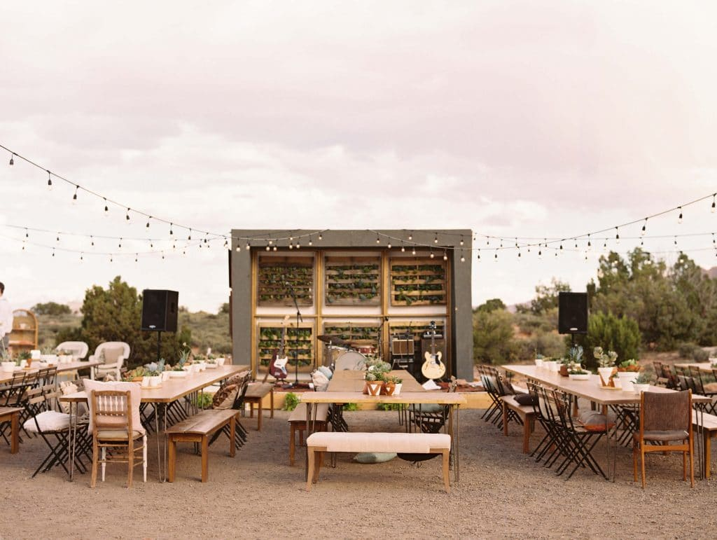 Camp wedding at under canvas moab