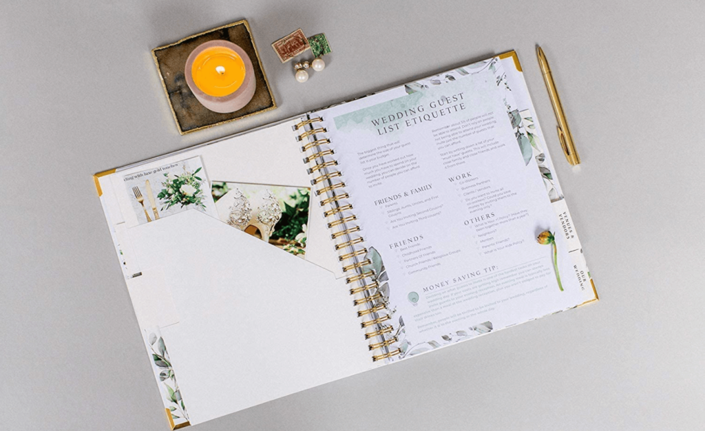 floral wedding planning book buy here
