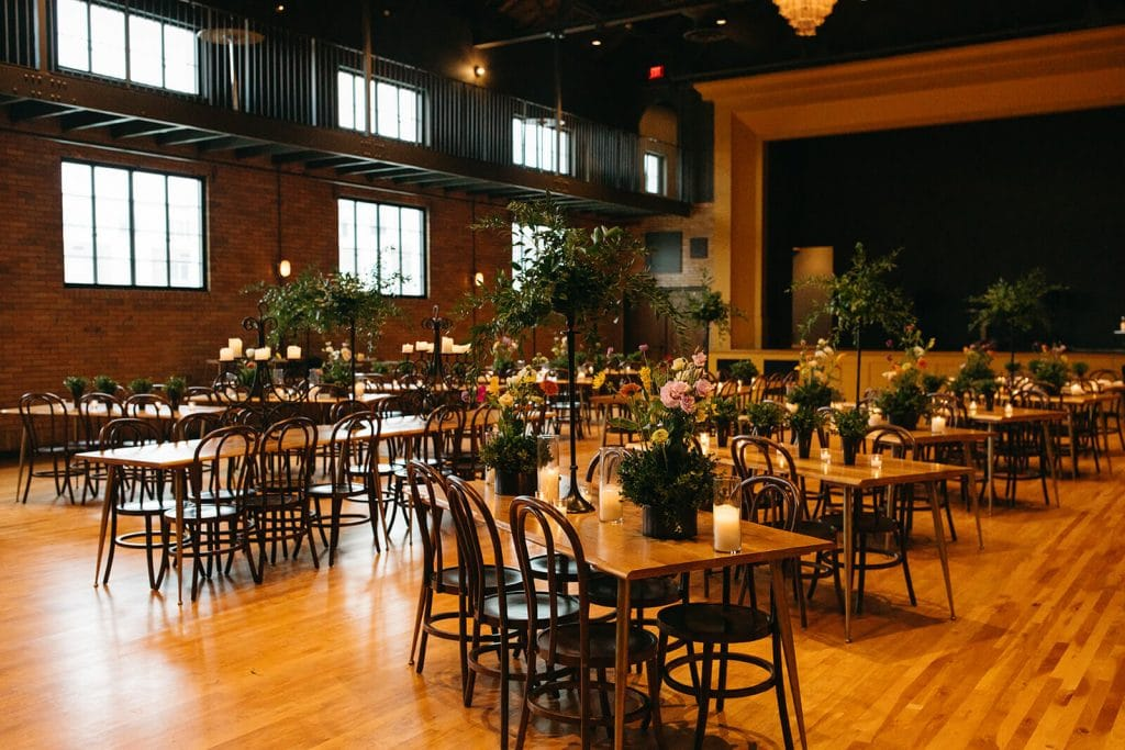 Reception hall at Common House wedding venue in Chattanooga